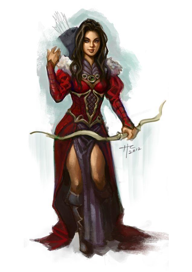 Drawn warrior female archer By 95 Pinterest deviantart about