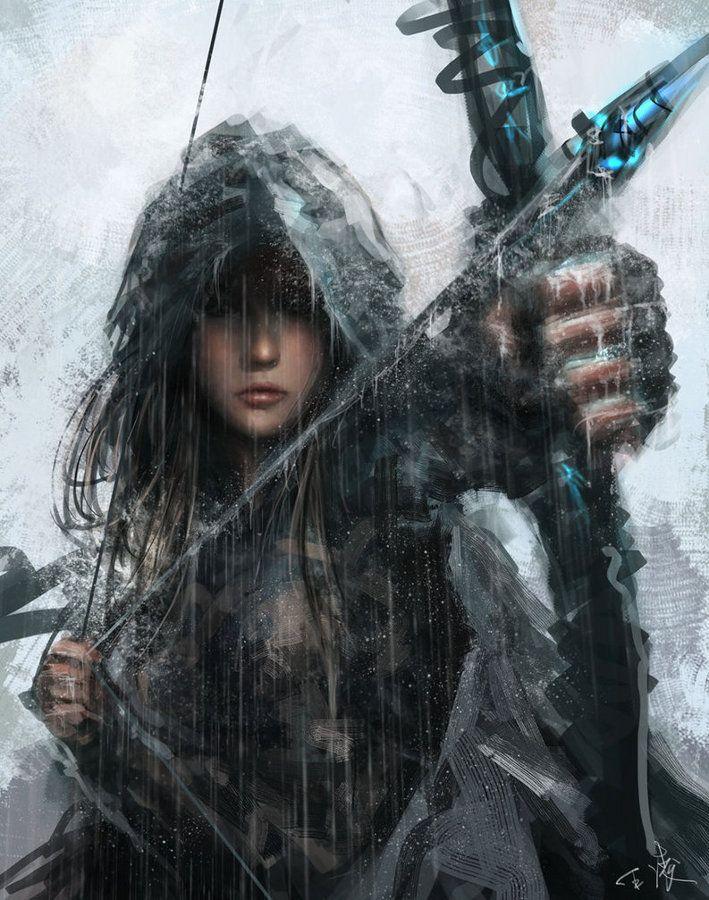 Drawn warrior female archer Find Pin best Archery Pinterest
