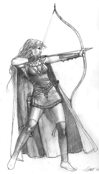 Drawn warrior female archer Female Archer best Archers Pinterest