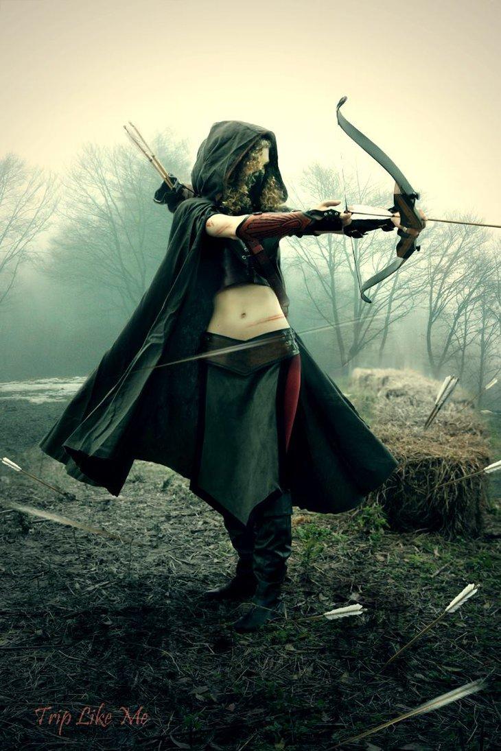 Drawn warrior female archer Kriegerinnen Assassinas meinen Herz