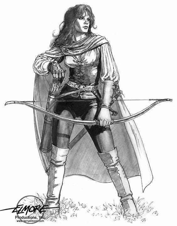 Drawn warrior female archer Pinterest Find Pin Archer to