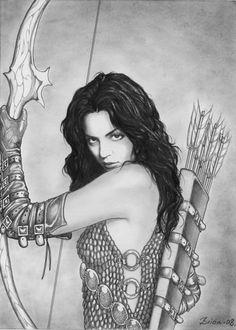 Drawn warrior female archer Salvador do good *Dr i'm