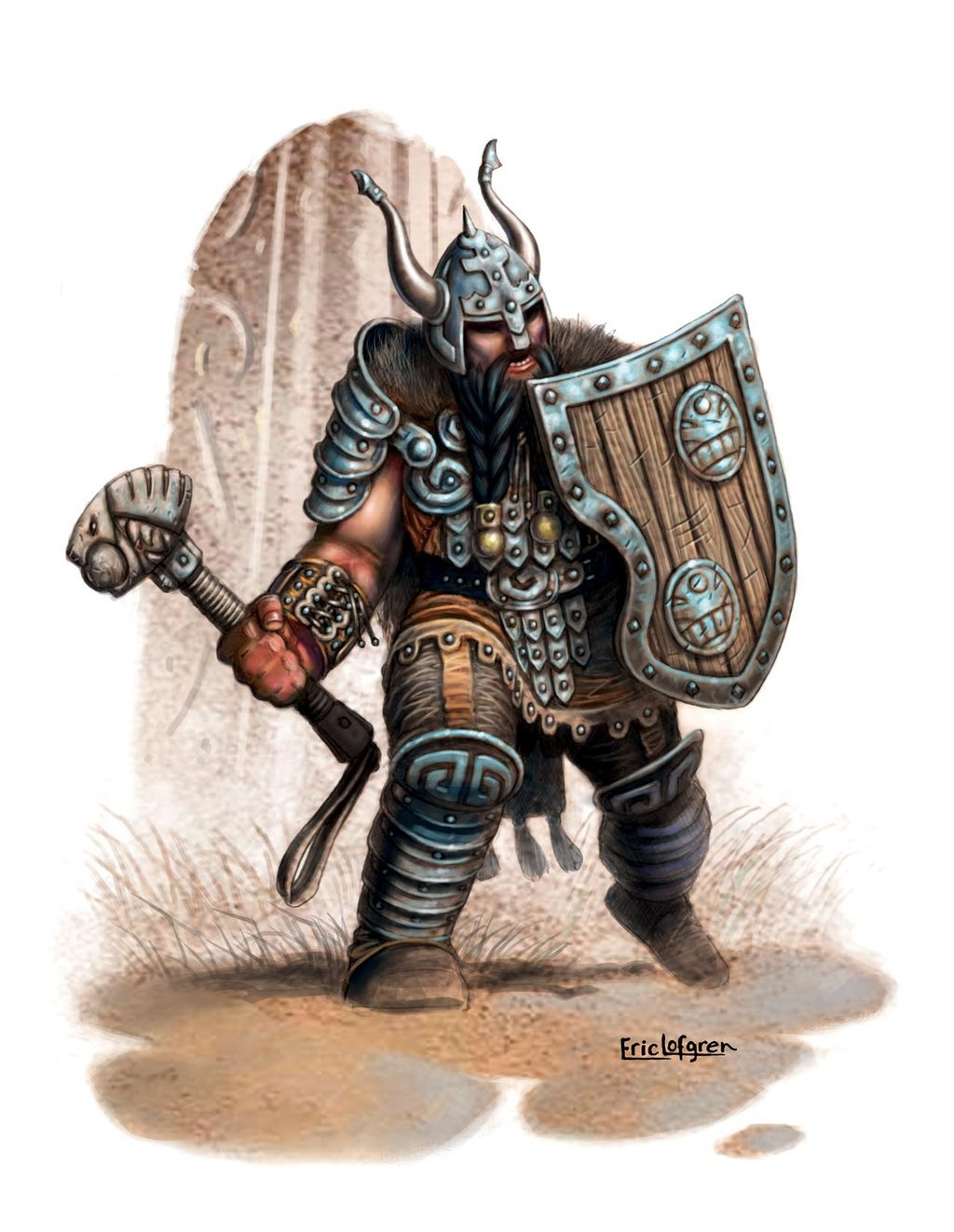 Drawn warrior giant Doing stared giant were Belegar