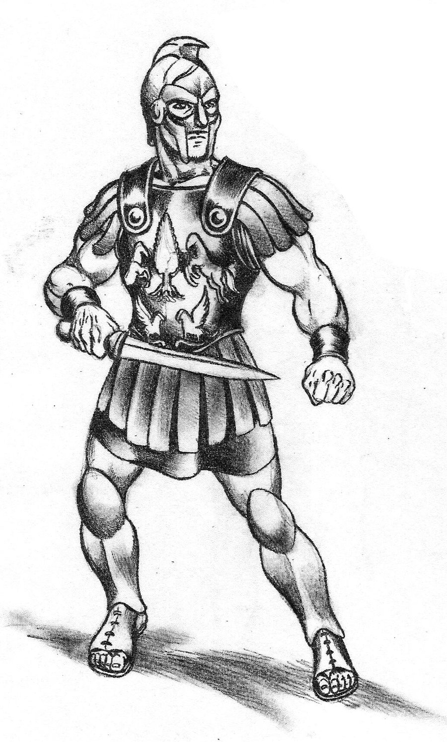 Drawn warrior gladiator Gladiator Quality Gladiator High Drawing