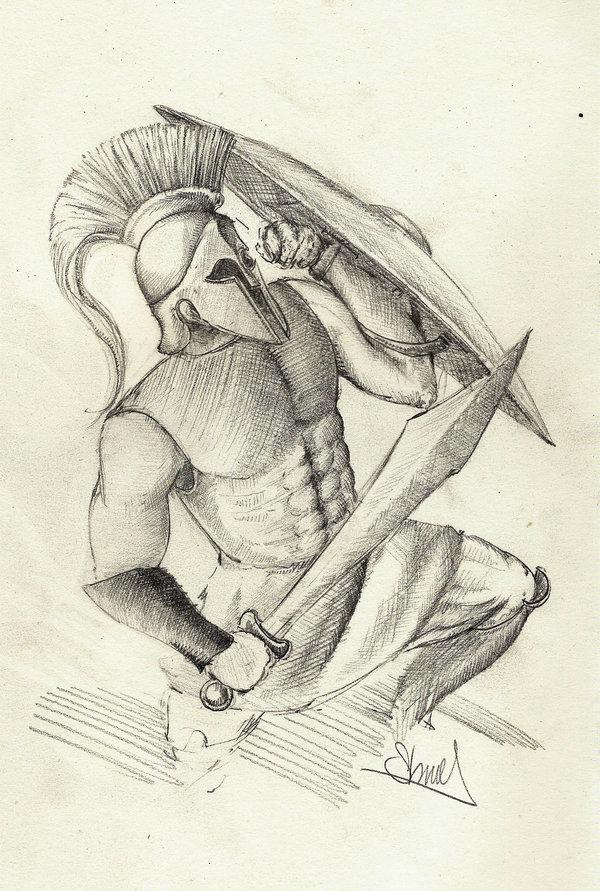 Drawn warrior greek soldier Greek Soldier Greek Pinterest Greek