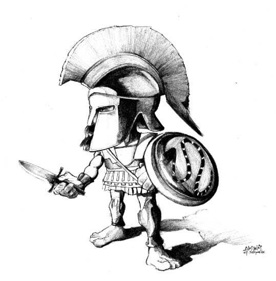 Drawn warrior greek soldier Greek 2 greek Pinterest cartoon