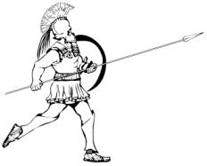 Drawn warrior greek soldier Spear hoplite Greek Soldiers Kids: