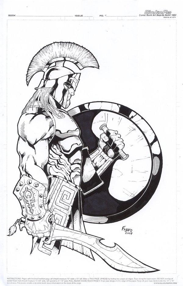 Drawn warrior greek soldier By DeviantArt Hoplite Greek by
