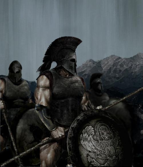 Drawn warrior greek soldier War greek Warfare art sparta