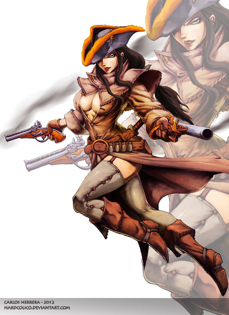 Drawn warrior gunslinger Gunslinger by Chaos DeviantArt by
