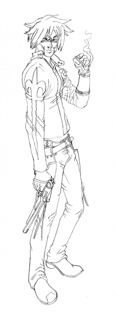 Drawn warrior gunslinger Chris jpg Chris with