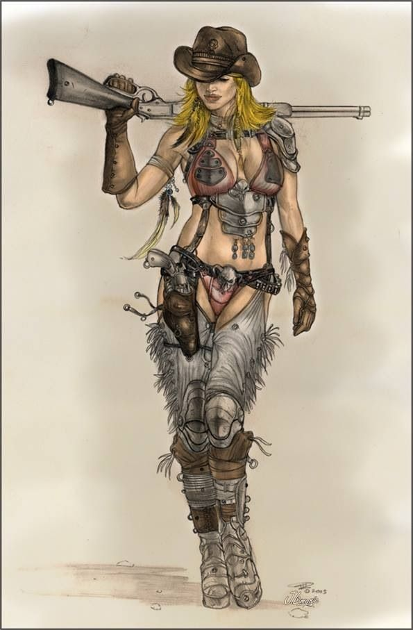 Drawn warrior gunslinger On Pinterest best images Gunslinger
