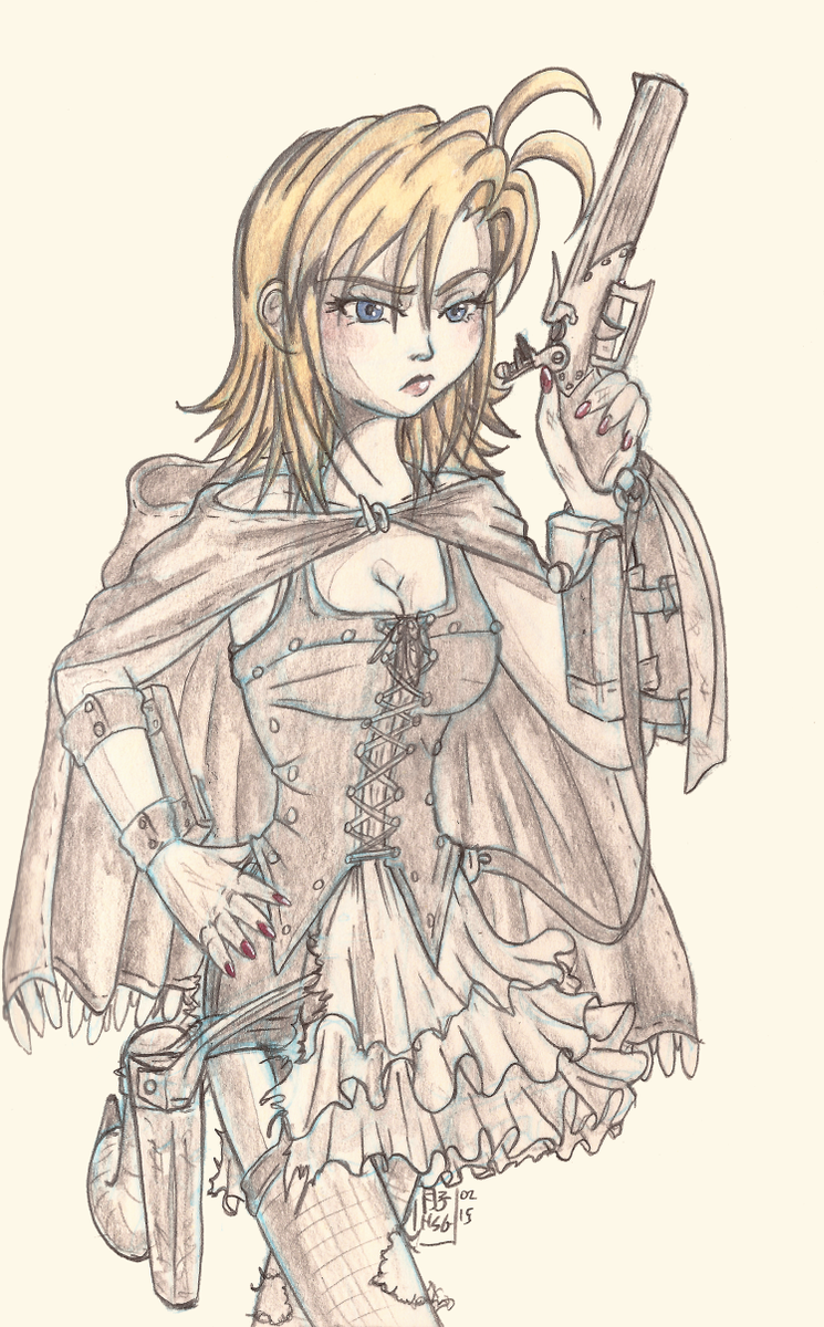 Drawn warrior gunslinger : My Female Half (Pistolero)