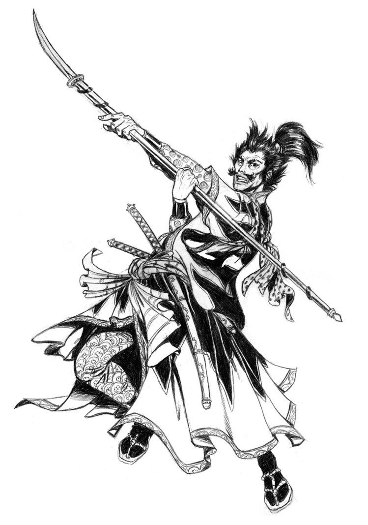 Drawn warrior japan samurai Of by pifalo warrior