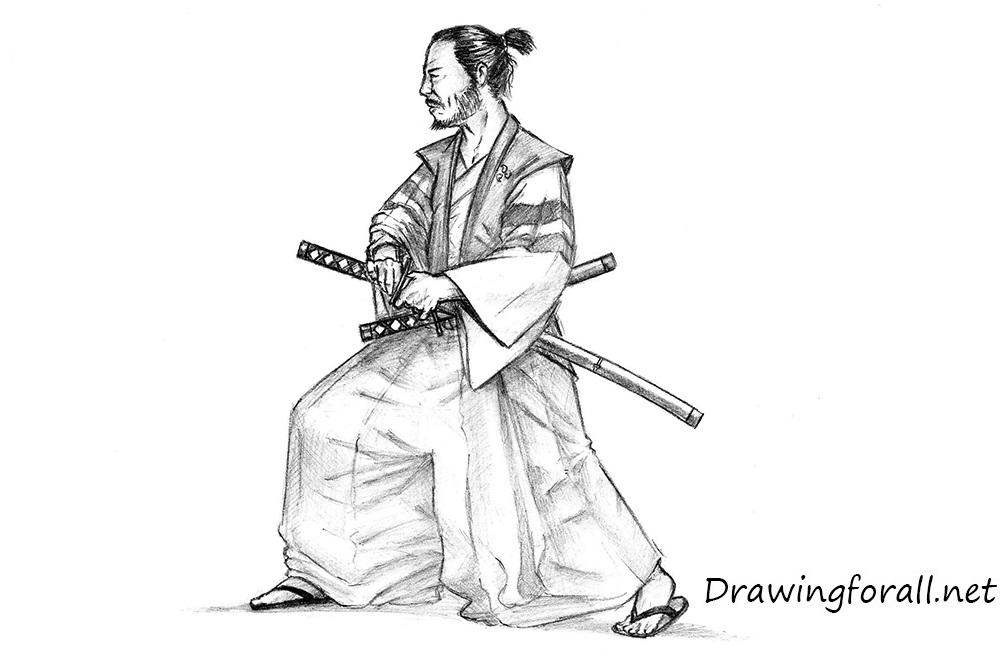 Drawn warrior japan samurai To How to realistic samurai