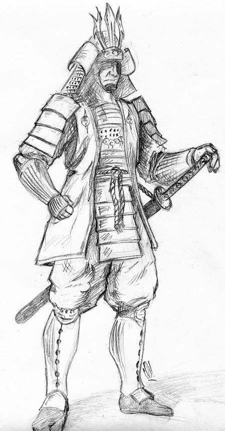 Drawn warrior japan samurai Drawings Pesquisa Google samurai Drawings