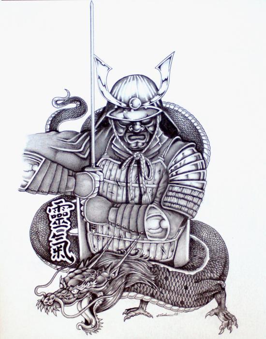 Drawn warrior japan samurai This Traditional Japanese more