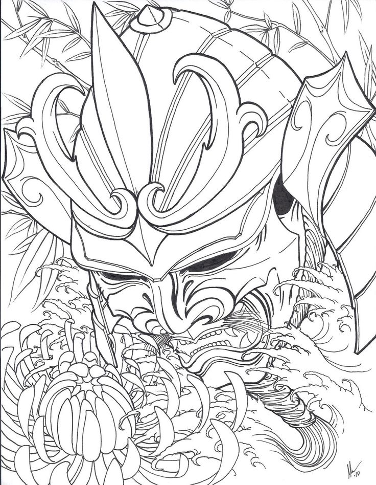 Drawn warrior japan samurai Head deviantART Japanese xcjxedge on