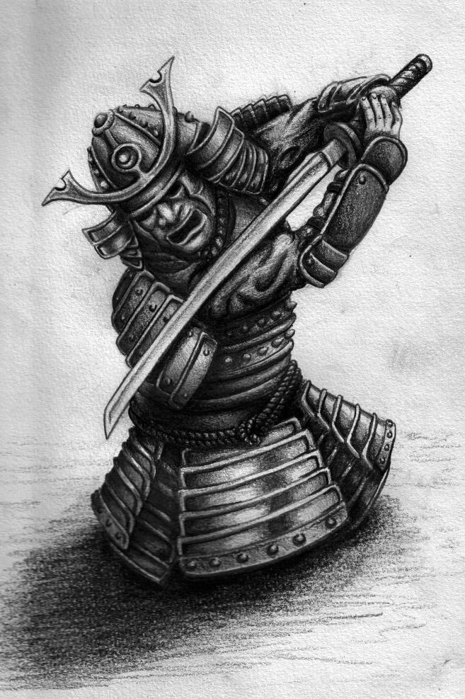 Drawn warrior japan samurai Is drew as a warrior
