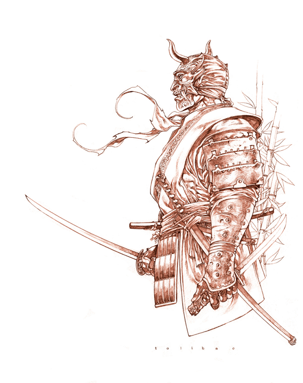 Drawn warrior japanese samurai Google SKETCHBOOK SAMURAIS Pesquisa Drawings
