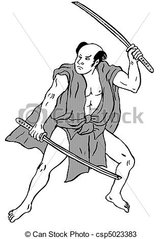Drawn warrior japanese samurai Csp5023383 Illustration warrior warrior Samurai