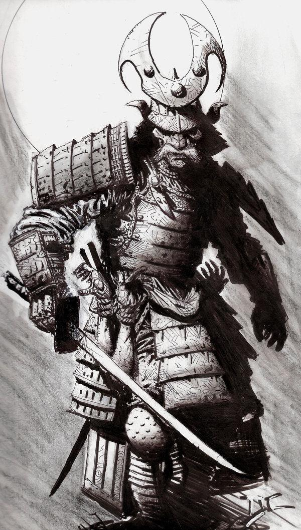Drawn warrior japanese samurai Google Google tattoo tattoo sketch