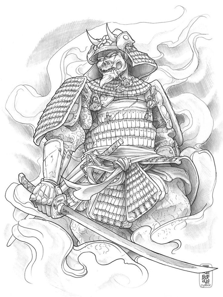 Drawn warrior japanese samurai Tattoo Warrior Samurai Warrior Samurai