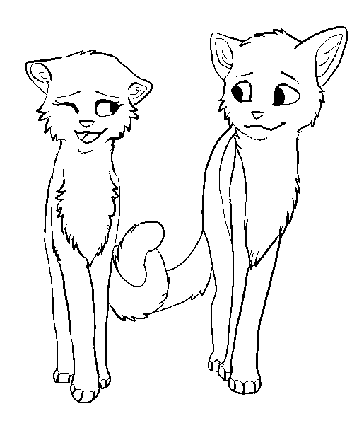Drawn warrior line art Cat DeviantArt by in Lineart