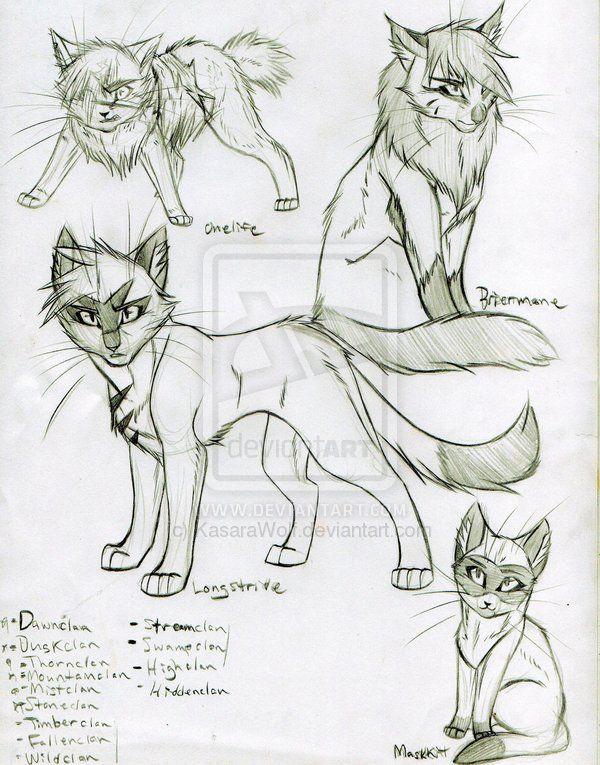 Drawn warrior line art Warrior Pinterest cats best Warrior