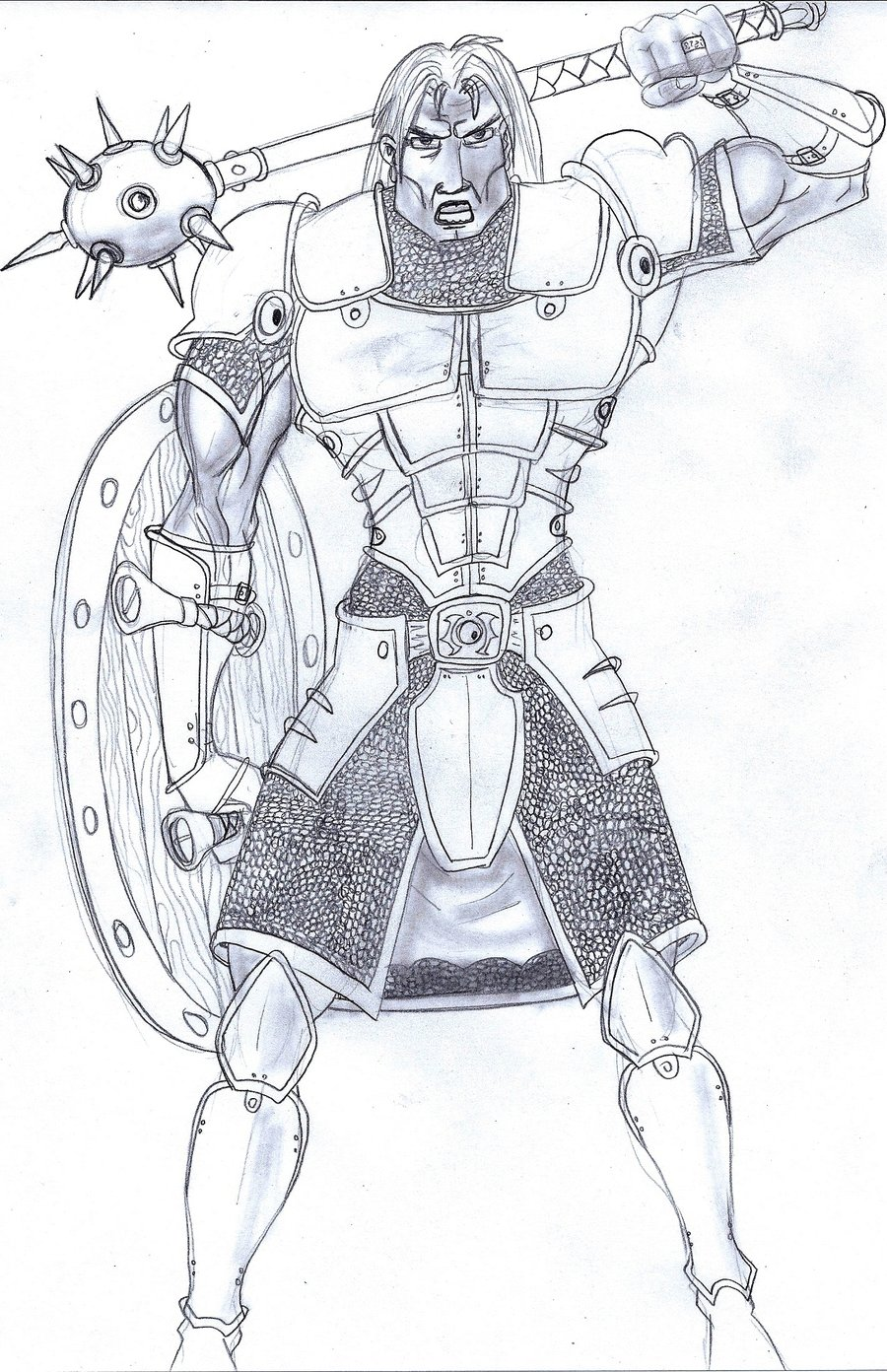 Drawn warrior male warrior Mongril27v warrior by in Male