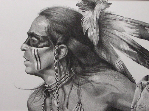 Drawn warrior native Directions american Warrior