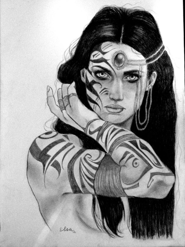 Drawn warrior native On Woman Pinterest 22 woman