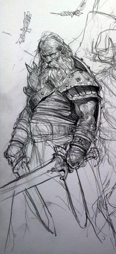 Drawn warrior old Drawing wonderful drawing sketchbook Sketchbooks