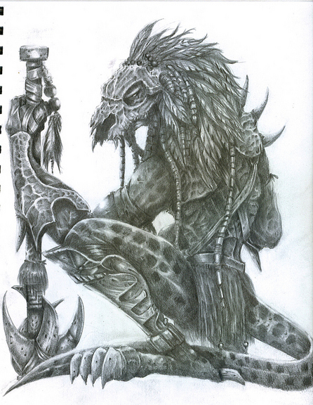 Drawn warrior reptile Chungking2399 chungking2399 on warrior by
