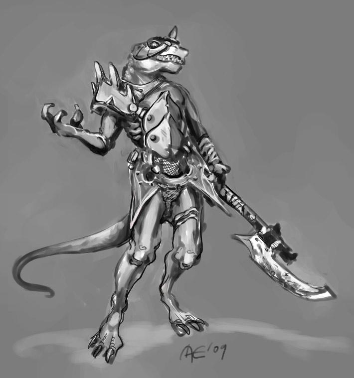 Drawn warrior reptile Winterhall Winterhall on Warrior by