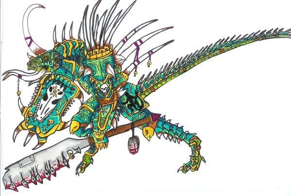 Drawn warrior reptile By Lizard warrior starscream Mandarin