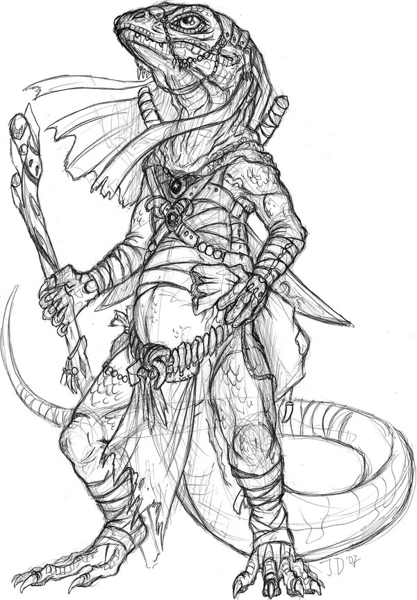 Drawn warrior reptile 101 Kerneinheit Reptiles Warrior by