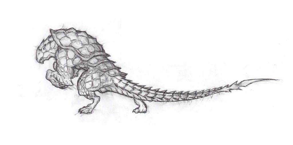 Drawn warrior reptile Armored krigg on 211 creature