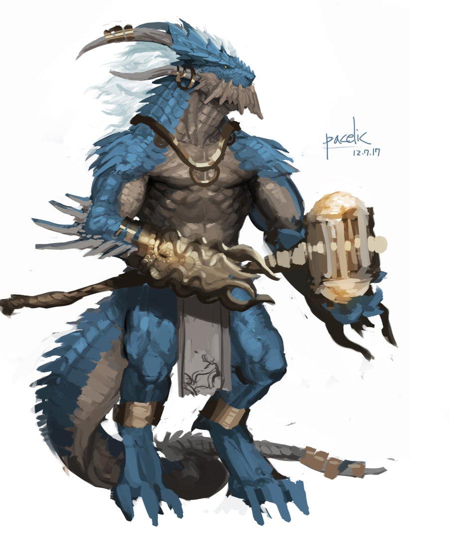 Drawn warrior reptile Warrior Pinterest Dragons Kingdom Concepts