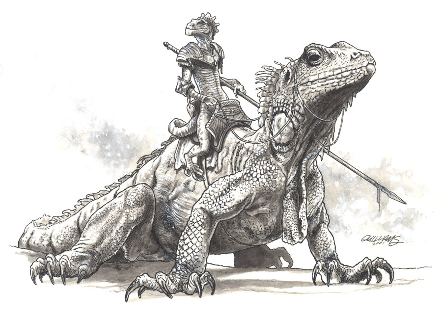 Drawn warrior reptile ChrisQuilliams ChrisQuilliams on Rider by