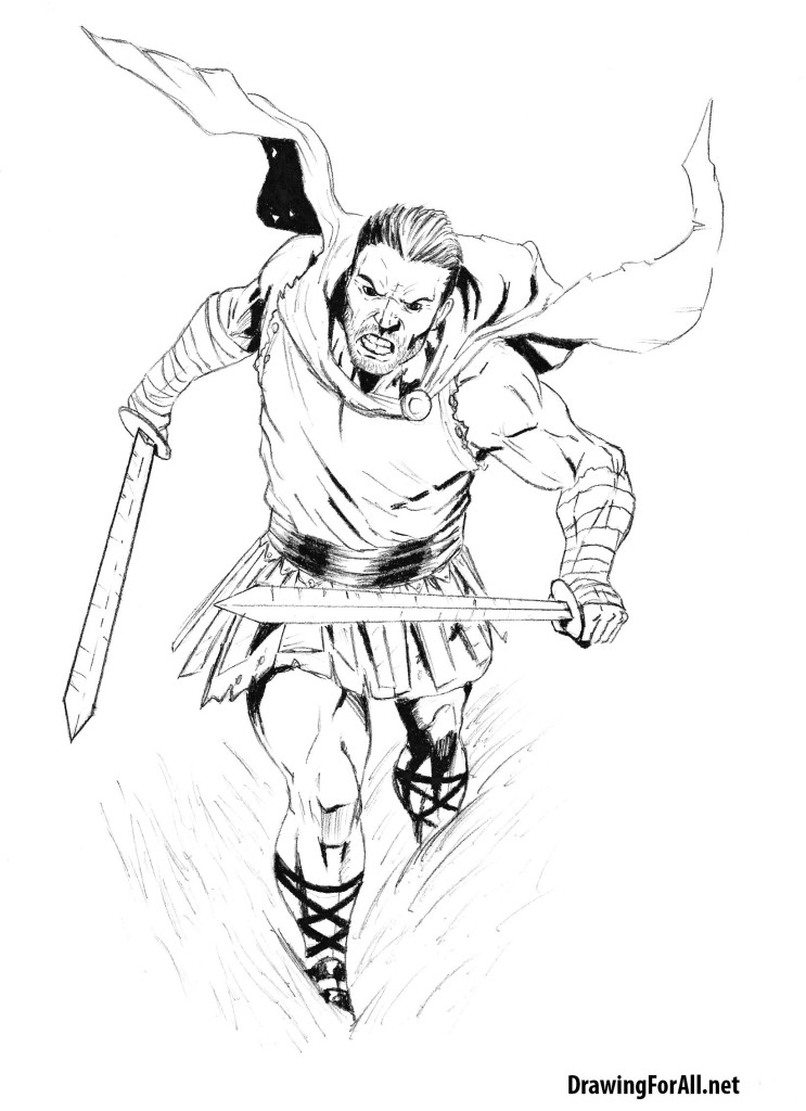 Drawn warrior roman warrior To How draw a to