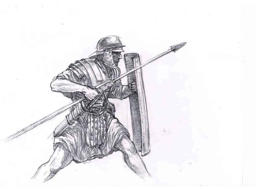 Drawn warrior roman warrior Soldier Image Image Images Drawing