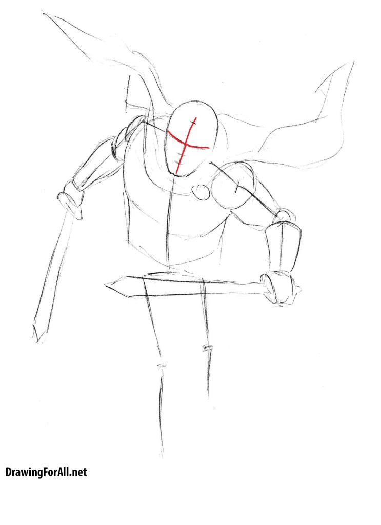 Drawn warrior roman warrior To pencil draw draw How