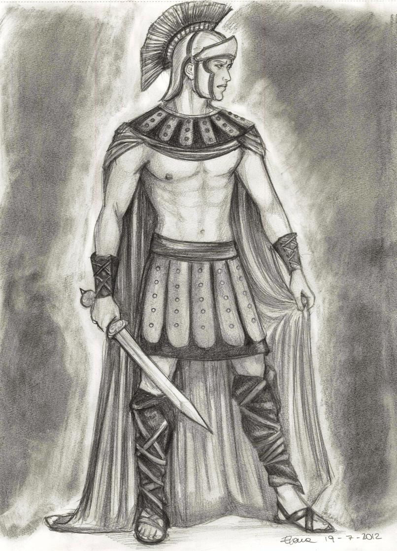 Drawn warrior roman warrior Warrior by by warrior HeilyAens
