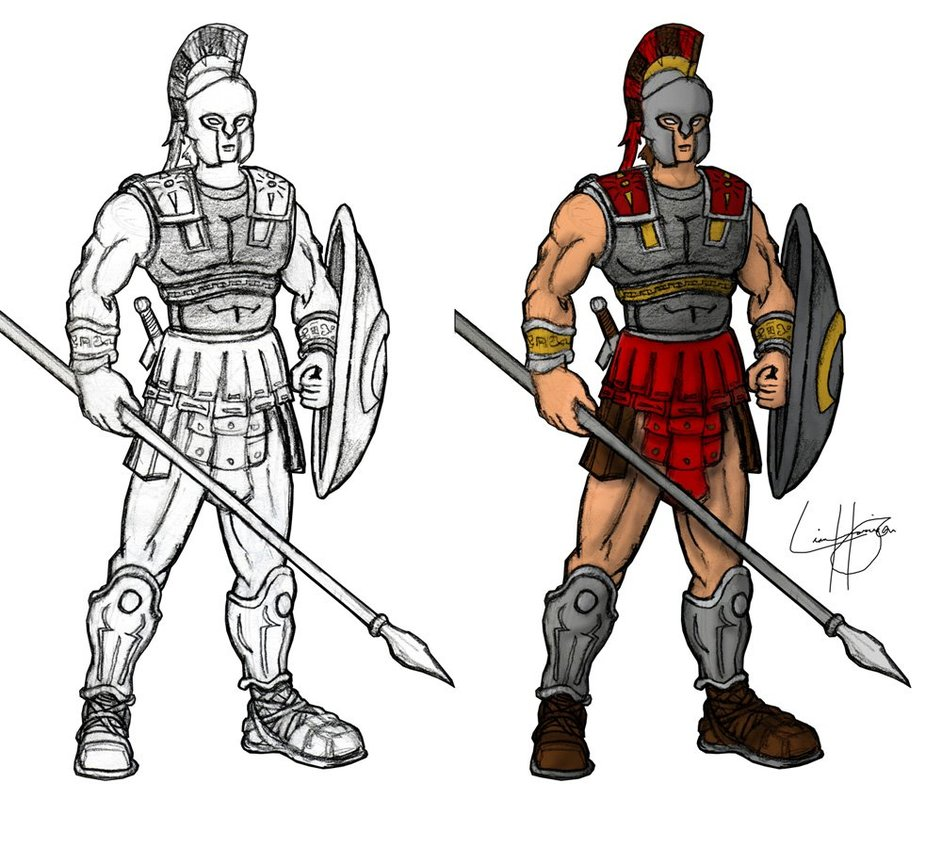 Drawn warrior roman warrior Roman Roman Warrior Gatewave Warrior