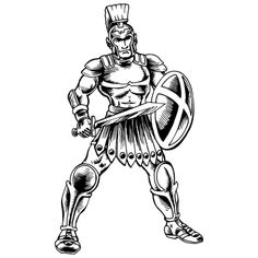 Drawn warrior roman warrior Soldier Roman  coloring how