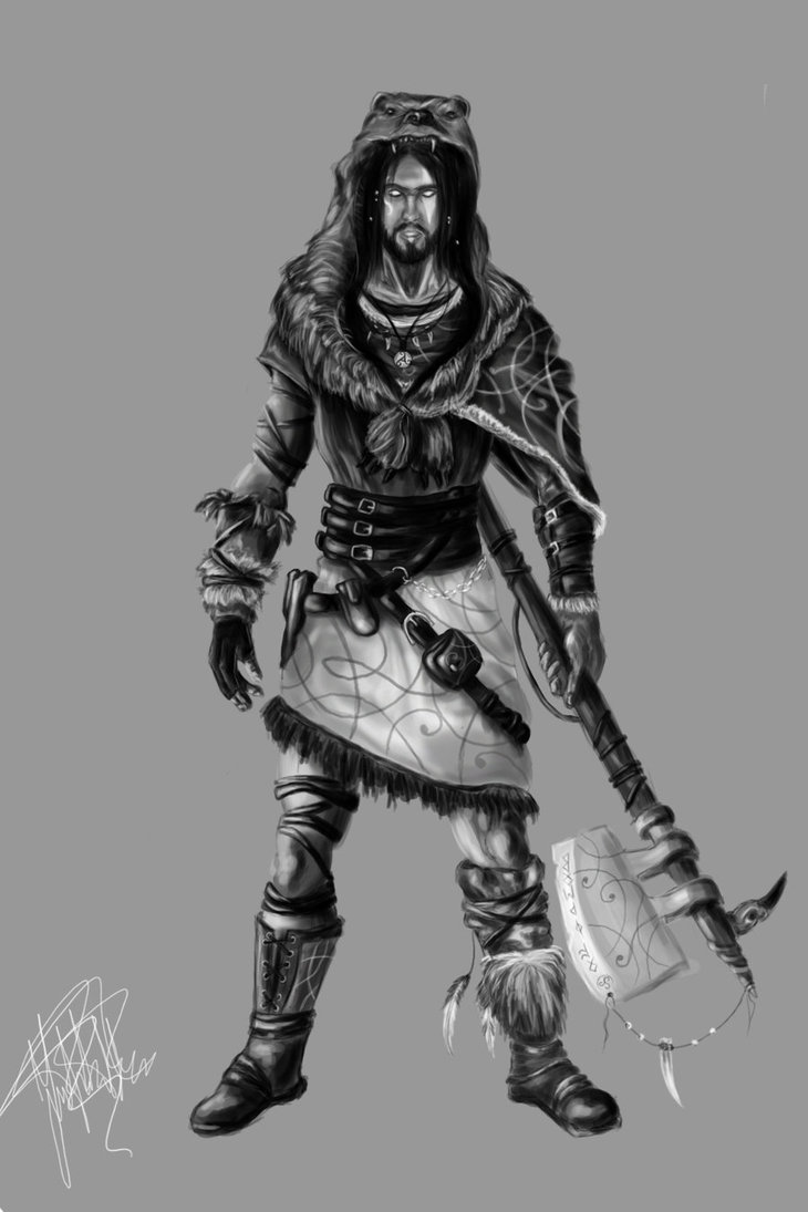 Drawn warrior shaman Warrior by concept DeviantArt warrior
