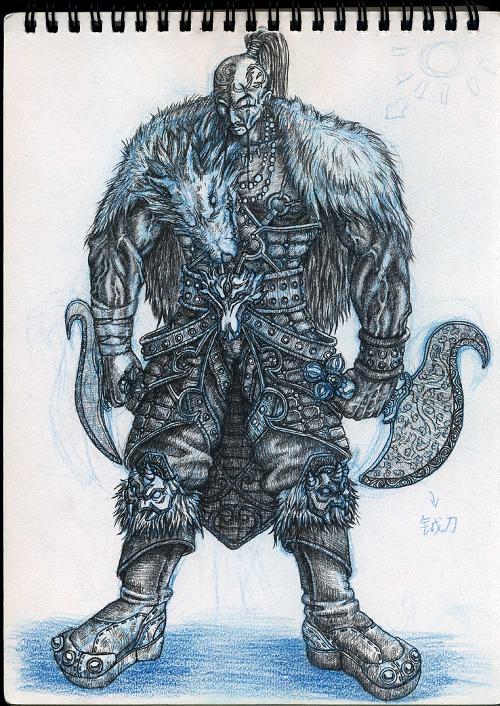 Drawn warrior shaman Or GP03D warrior hunter on