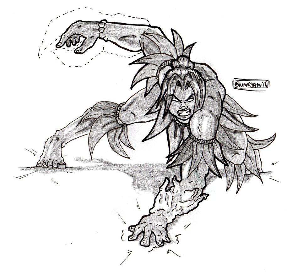 Drawn warrior shaman By Shaman/Warrior DeviantArt Niuean by