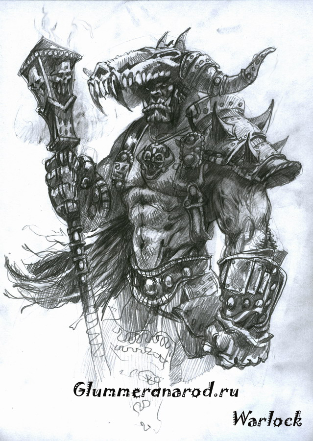 Drawn warrior shaman Shaman Glummer by Pinterest